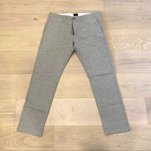 J. Crew 484 Slim-Fit Linen Pants (Gray)